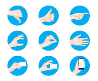 Business hand gestures icon Stock Photography