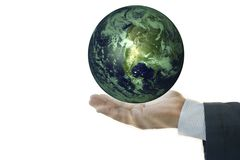 Business Hand Holding Earth Royalty Free Stock Photo