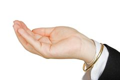 Business hand holding something of your choice Stock Photo
