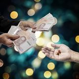 Business hand pay for drugs, Medicine business concept, stock photography