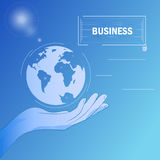 Business hand - poster Stock Images