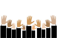 Business hand raise up for opportunity concept Stock Photo