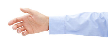 Business Hand Reaching Out Royalty Free Stock Image