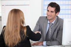 Business hand shake Stock Photos