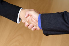 Business hand shake. Businessmen shaking hands Royalty Free Stock Images
