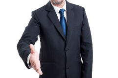 Business hand shake concept Royalty Free Stock Image