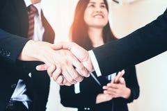 Business hand shake between executive. Business hand shake between corporate executive stock images
