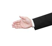 Business hand for a shakehand. One business hand for a hand shake Stock Image