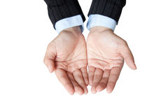 Business hand for show someting in her hand Stock Image