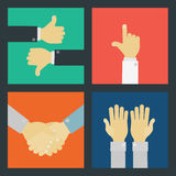 Business Hand Signs Kit Royalty Free Stock Images