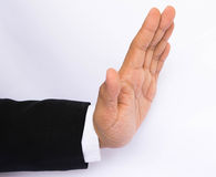 Business hand stop Stock Photos