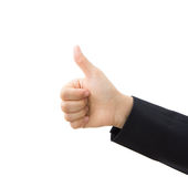 Business hand thumb up Royalty Free Stock Photos