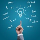 Business hand trade idea Stock Photos