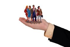 Business hand with workers Royalty Free Stock Image