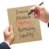 Business hand writing brand concept Stock Image