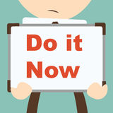 Business hand writing Do it Now Stock Image