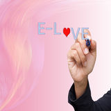 Business  hand writing  E-Love Royalty Free Stock Photo
