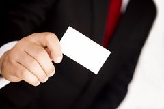 Business hands. Man in suit Stock Photo