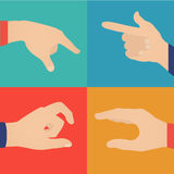 Business hands action, pointers Stock Images