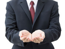 Business hands as if holding someting Stock Photography