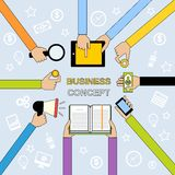 Business hands flat line Stock Photo