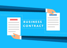 Business hands flat vector background Stock Images