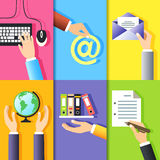 Business hands icons Stock Images