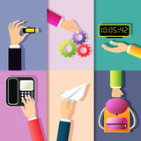Business hands icons Royalty Free Stock Photos