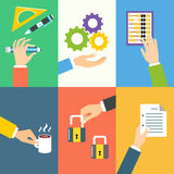 Business hands icons Stock Photo