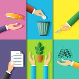 Business hands icons Royalty Free Stock Photo