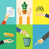 Business hands icons Royalty Free Stock Photography