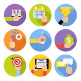 Business hands icons Royalty Free Stock Image