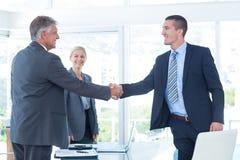 business hands partners shaking Royaltyfri Foto