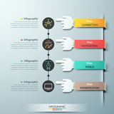 Business hands teamwork infographics template Royalty Free Stock Photography