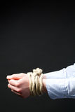 Business Hands Tied Up Stock Photos