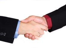 Business handshake. Isolated on white Stock Photo