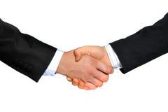 BUSINESS HANDSHAKE. Handshake - isolated hands on white background Stock Images