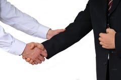 Business handshake. Handshake - isolated on white background Stock Photography