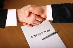 Business handshake. Stock Photos