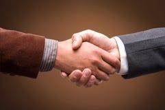 Business handshake. Isolated business handshake agreement concept Royalty Free Stock Photo