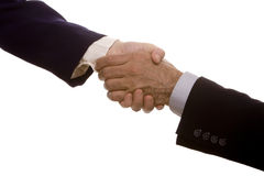 Business handshake. Two business people shaking hands Royalty Free Stock Photos