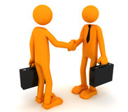Business handshake. Two business men having a handshake. 3D render Royalty Free Stock Image