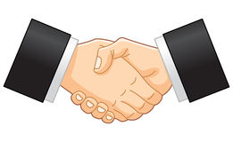 Business handshake. Illustration of a business handshake royalty free illustration