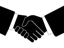Business handshake -. Handshaking with each other on white background Stock Photo
