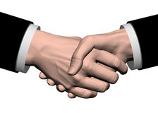 Business handshake. On a white background royalty free illustration