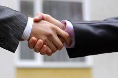 Business handshake. Of two businessmen Stock Images
