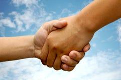 Business handshake. Close-up of a business handshake Stock Photos
