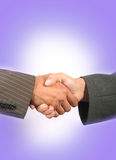 Business handshake. With blue background Royalty Free Stock Image