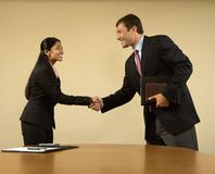 Business handshake. Royalty Free Stock Image