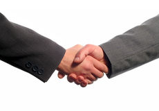 Business handshake. With white background Stock Photo